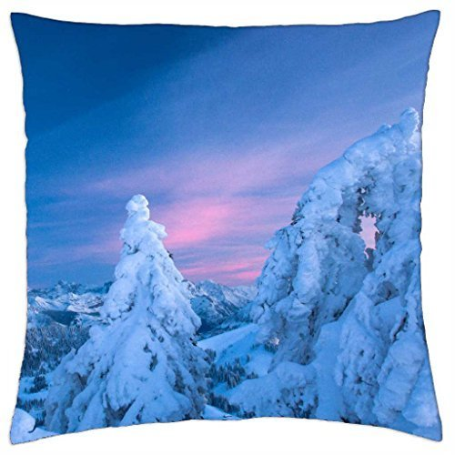 winter-sunset - Throw Pillow Cover Case (45,7 x 45,7 cm)