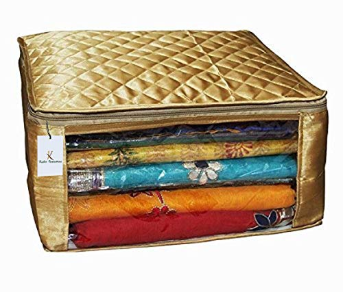 Kuber Industries Satin Fabric Saree Cover