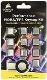 Corsair ch-9234-ww Gaming PBT Double-Shot Tastenkappen Full 14/15-keyset weiß grau grau FPS/MMO