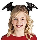 halloweenia-Halloween Costume Capelli, Ali di Pipistrello vampiro pipistrello bambini copricapo, Nero