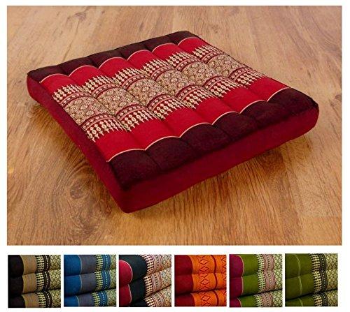 Kapok Sitzkissen 35cmx35cmx6,5cm der Marke Asia Wohnstudio, asiatisches Stuhlkissen,...