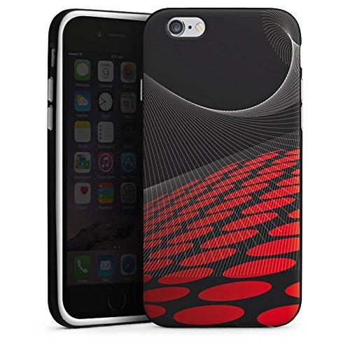 Apple iPhone 4 Housse Étui Silicone Coque Protection Points Motif Motif Housse en silicone noir / blanc
