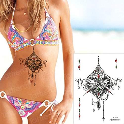 Handaxian 3pcsTattoo Aufkleber weibliche arabische Brust Tattoo Aufkleber Bikini Spitze Tattoo Mädchen -