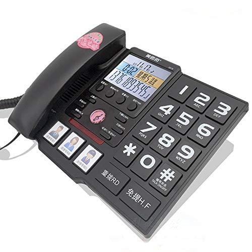 estnetztelefon Zu Hause Senioren Festnetz Großschrift Großtasten-Zielwahl (Color : Black) ()