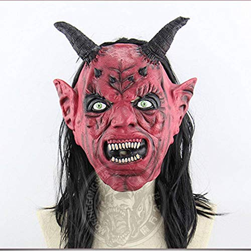 Für Prom Kostüm King Erwachsene - AIYA Latex Realistische Magic King Fool Halloween Tanzparty Performance Requisiten Terrorist Maske