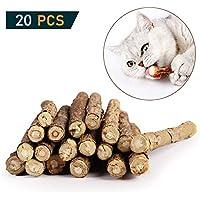 OneBarleycorn – Katzenminze Sticks zum Schleifen von Zähnen, Spielzeug für Katzen, Kätzchen, 100% biologisch, natürlich, Matatabi Zahnpflege, 20 Stück