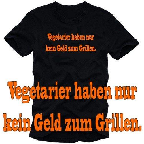 Touchlines vegetarier ont pas seulement de l'argent pour barbecue t-shirt gRILL gRILLEN \\