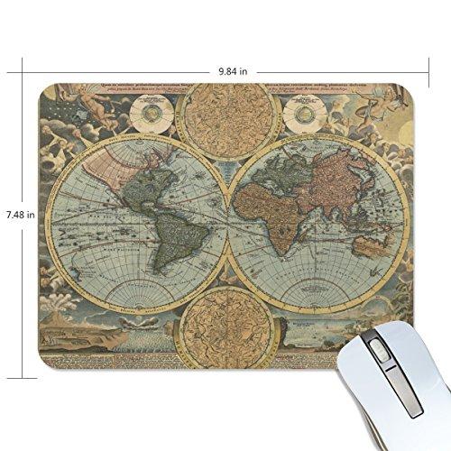 zzkko Retro Vintage Global Weltkarte rutschfest 25cm (L) x7.48