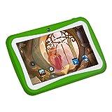 Padgene 7 Zoll Kinder Tablet PC 1G RAM 8G ROM Speicher Android Quad Core 1.2 GHz bilige Tablet für Kids mit Spezialangebot (Grün)