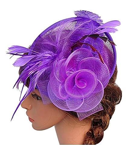 Santwo - Chapeau melon - Femme Taille Unique - Violet - Taille Unique