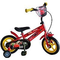 "Cars  - Bicicleta Infantil, Color Rojo, Talla 12"""