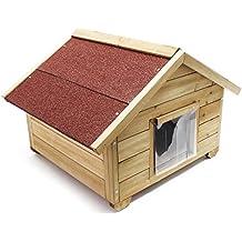 Caseta pequeña para gatos casa hogar impermeable aislado exterior para jardín