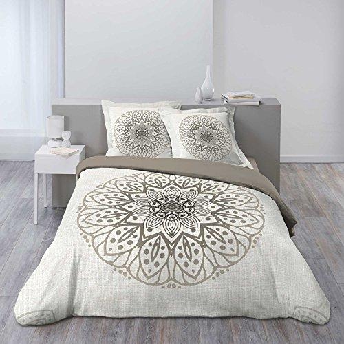Douceur d\'Intérieur Bettwäsche Bettbezug, Baumwolle, mehrfarbig, 220x 240cm