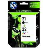 HP 21 negro/22 tri-de color cartuchos de tinta Original 2-Pack