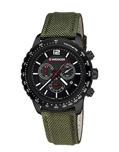 Wenger Roadster Black Night Chrono 01.0853.110 - Reloj de pulsera unisex, Negro
