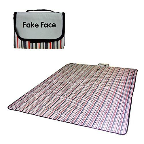 Preisvergleich Produktbild FakeFace Neu Picknickdecke Campingdecke Stranddecke Strandmatte Outdoordecke 150×200cm wärmeisoliert wasserdicht mit Tragegriff Outdoor
