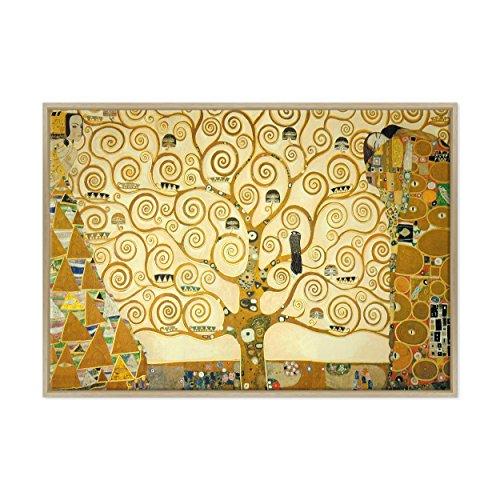 Gemälde auf Leinwand,Motiv: Lebensbaum, Gustav Klimt, gerahmt, bereit zum Aufhängen,Kultur,...
