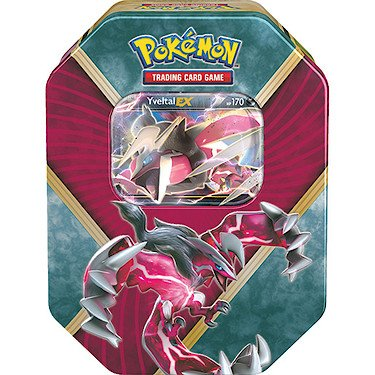 Pokemon TGC - XY Shiny Kalos Tin - Yveltal EX - Boite 4 Packs de Cartes Booster Version Anglaise