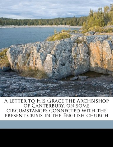 A letter to His Grace the Archbishop of Canterbury, on some circumstances connected with the present crisis in the English church
