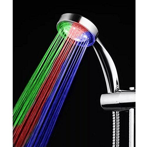 Badezimmer Duschkopf Multicolor LED Wasser Glow Licht Dusche Kopf einfach zu installieren für Home Badezimmer Verwenden Duschkopf-timer-abschaltung