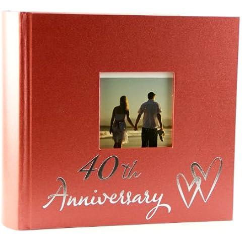 Ruby 40th aniversario de boda álbum de fotos - incluye embalaje original en caja de regalo