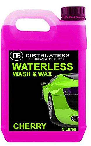 dirtbusters-cherry-producto-para-lavado-y-encerado-de-coches-sin-agua-y-dos-panos-de-microfibra-5-l-