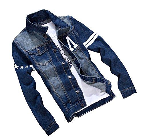 Herren Beiläufige Cowboy Jeansjacke Frühlingsjacke Herbst Jacke Kurzjacke Regular Fit Langarm mit Muster 3
