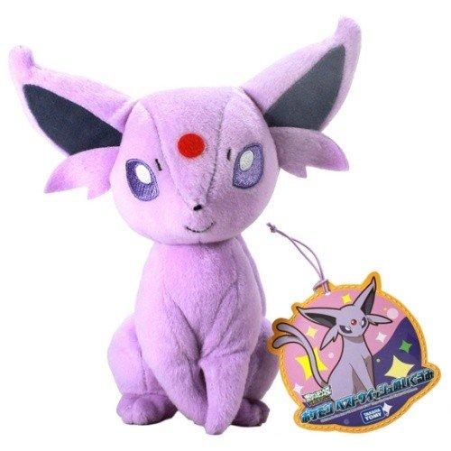 Pokemon: Best Wishes! (Schwarz + Weiß) Kuscheltier / Stofftier / Plüsch Figur: Psiana / Espeon / Eifie (T.T.) 20 cm