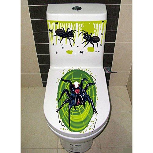 Lanlan Halloween gruselige Badezimmer WC-Sitz Deckel und Spülkasten Aufkleber Closestool Abdeckung Party Dekoration (Halloween Zubehör Bulk)