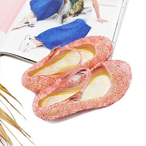 LnLyin Baby Mädchen Weich-PVC-Kristall Schuhe Kinder 'S Princess Schuhe, rot, Little Kid UK 11(18.5cm)