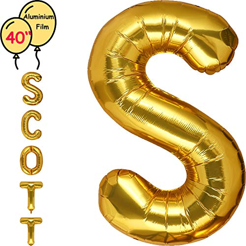 Dizoony Brief Ballons Alphabet Helium Party Supplies Gold Geburtstag Hochzeit Dekoration (S)
