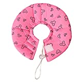 Gazechimp 1 x Wasserdichtes Kegel Halsband für Hunde und Katzen mit atmungsaktive Kante - Pink - M