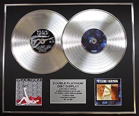 MYLENE FARMER/double CD Platine Disque Record/Edicion LTD/Certificato di autenticità/LES MOTS & BLEU NOIR