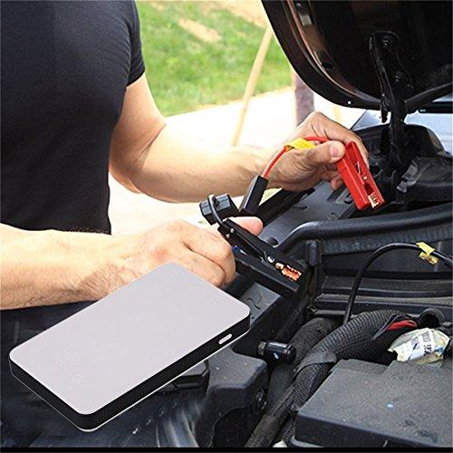 12 V 20000 mAh Mini Tragbare Multifunktionale Auto Starthilfe Power Booster Ladegerät Notstart Ladegerät (weiß)