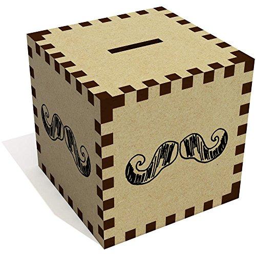 Azeeda 'Bigote' Caja de Dinero / Hucha MB00001601