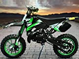 "Dirtbike Coyote 49cc 10"" Crossbike Pocket Minicross Motorcross Rot"