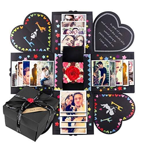 Vintoney Kreative Überraschung Box Explosionsbox DIY Faltendes Fotoalbum,Geburtstag Jahrestag Valentine Hochzeit Geschenk, für Hochzeit, Muttertag, DIY Geschenk MEHRWEG