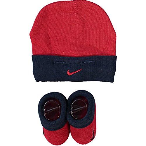 Nike Baby Set Mütze und Schuhe rot-navy 0-6 Monate