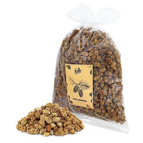 Bio Maulbeeren Getrocknet ● Trockenfrüchte Zuckerfrei ● Schwefelfrei ● 1 kg Vorteilspackung ● KoRo