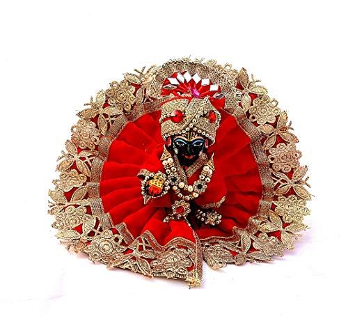 krishnagallery Laddu Gopal Soft Velvet Dress (Size 3 No)