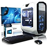 Vibox VBX-PC-16281P Purity Paket 5 68,6 cm (27 Zoll) Gaming Desktop-PC (Intel Core i7 5820K, 64GB RAM, 3TB HDD, NVIDIA Geforce GTX 970, Win 10 Home) weiß