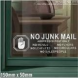 Keine Junk mail-hand design-window version-leaflets, Speisekarten, Flyer, Rundschreiben, salespeople-warning House post-salesman, Mail, box-self selbstklebendem Vinyl Tür Hinweis Schild