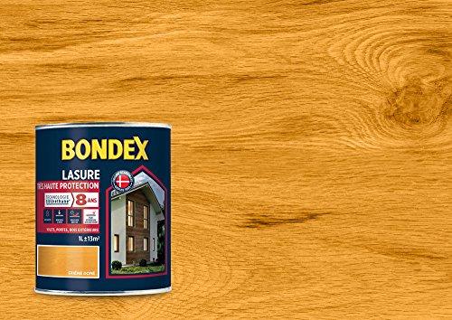 BONDEX - LASURE Très Haute Protection Siliuréthane 8 Ans - Protège et décore la surface des bois bruts - Satin