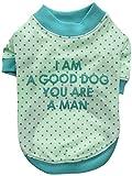 Pinkaholic New York NAQA-TS7203 Hunde T-Shirt, You und I, Medium, blau