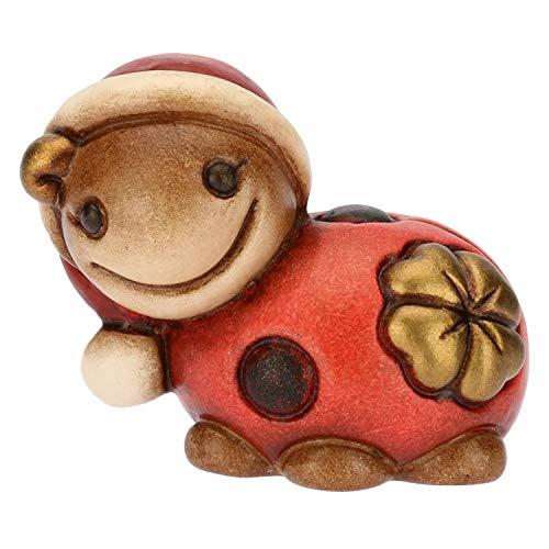 655f516b2533 THUN - Mini Coccinella Portafortuna Natalizia con Quadrifoglio - Personaggi  di Natale da Collezione - Ceramica