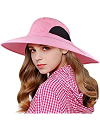 f7707d1cc3a73 EINSKEY Wide Brim Sun Hat Summer UV Protection Beach Hat Showerproof Safari  Boonie Hat Foldable Fishing
