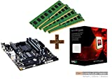 PC Aufrüstkit AMD, FX-8350 8x4.0 GHz, 32GB DDR3, Radeon HD3000-1GB, Mainboard Bundle, Tuning Kit, fertig montiert, Spiele Office zusammengestellt in Deutschland Desktop Rechner