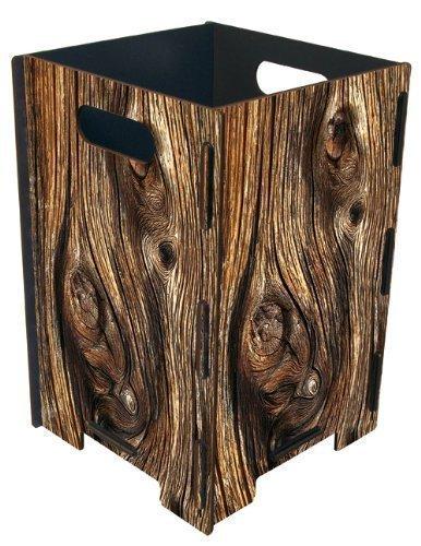 Papierkorb groß Holzscheibe von Werkhaus -