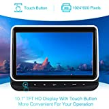 PUMPKIN In Car Headrest DVD Player for Kids 10.1 Inch Ultra Thin TFT LCD Screen with Mounting Bracket Supports Region Free USB/SD AV IN/OUT Direct Play