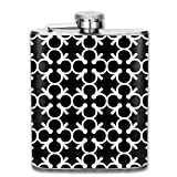 wonzhrui Liquor Flask Stainless Steel Flask Abstract Art Wine Bottle with Lid Leak Proof 7 Ounce